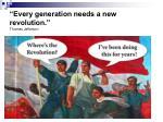 every generation needs a new revolution thomas jefferson