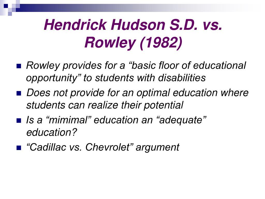 Hendrick Hudson S.D. vs. Rowley (1982)