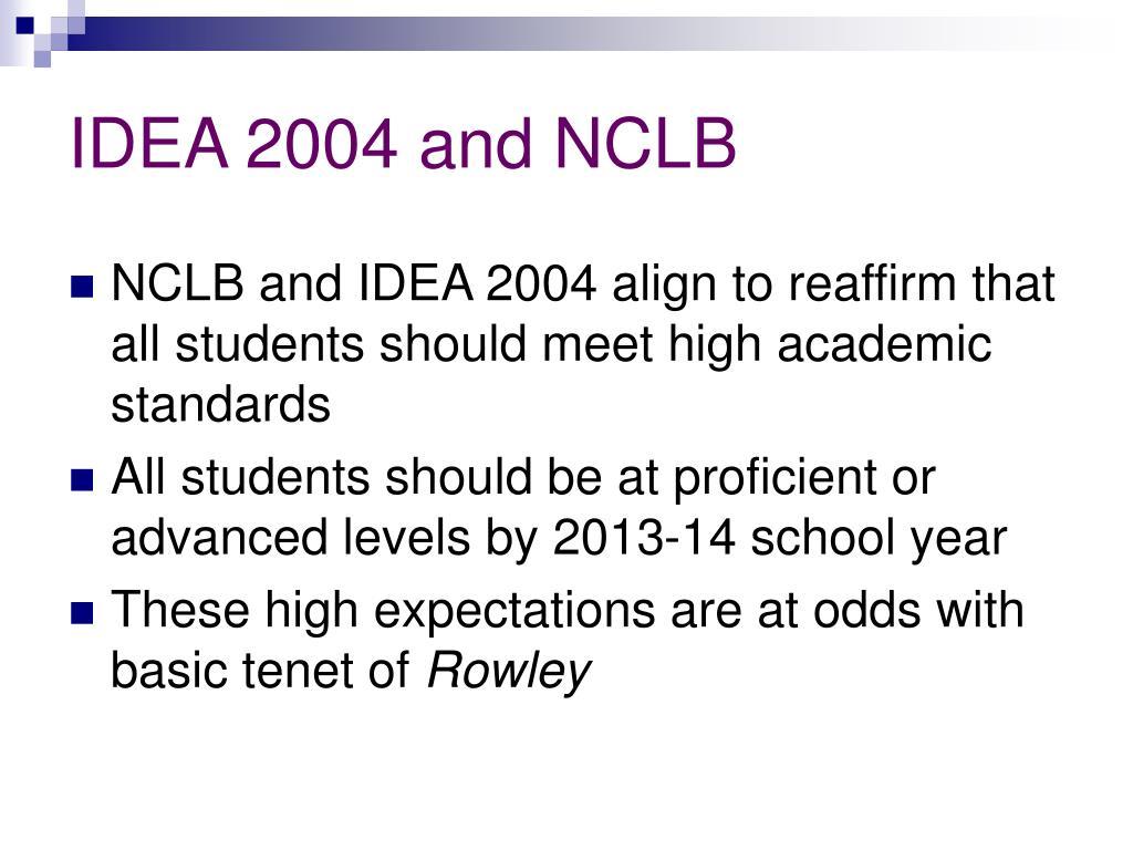 IDEA 2004 and NCLB