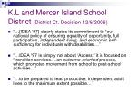 k l and mercer island school district district ct decision 12 8 2006