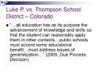 luke p vs thompson school district colorado