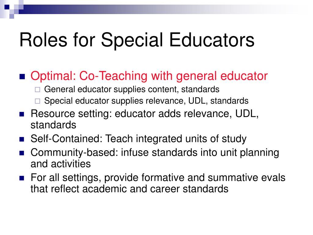 Roles for Special Educators