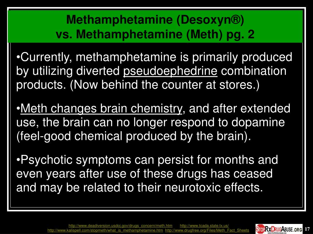 Methamphetamine (Desoxyn®)