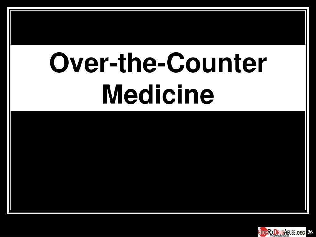 Over-the-Counter Medicine