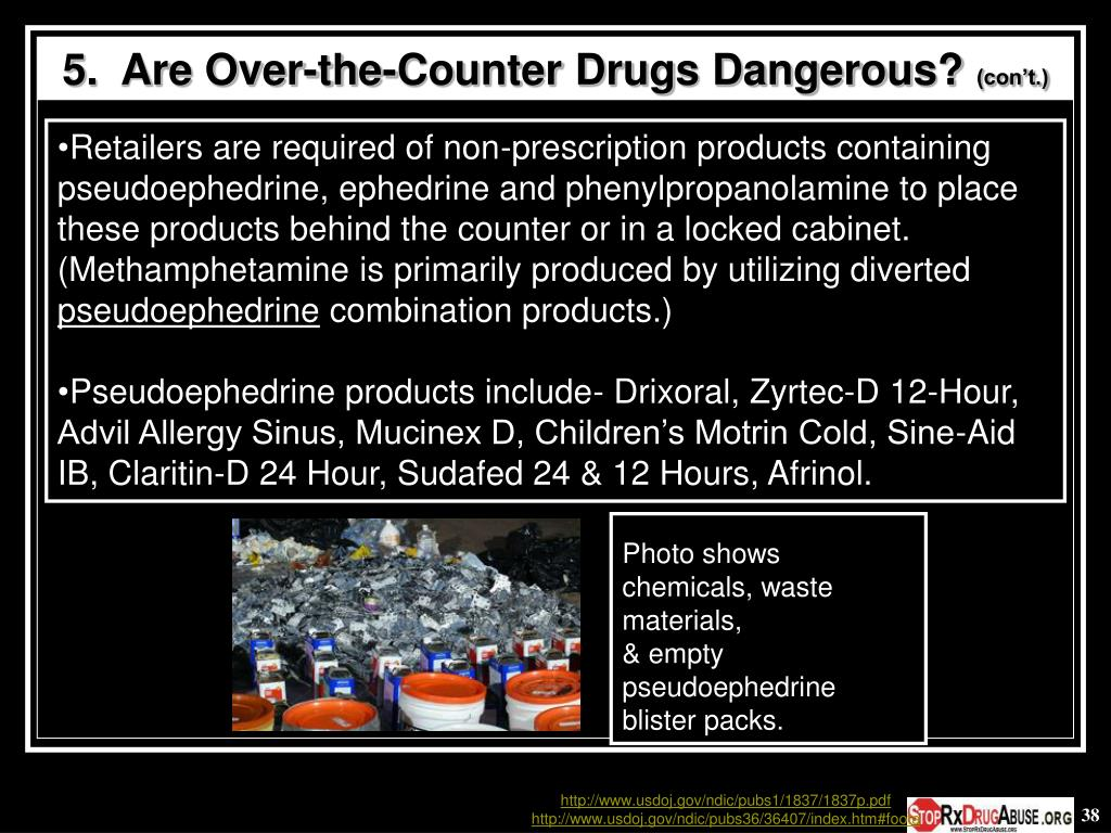 5.  Are Over-the-Counter Drugs Dangerous?