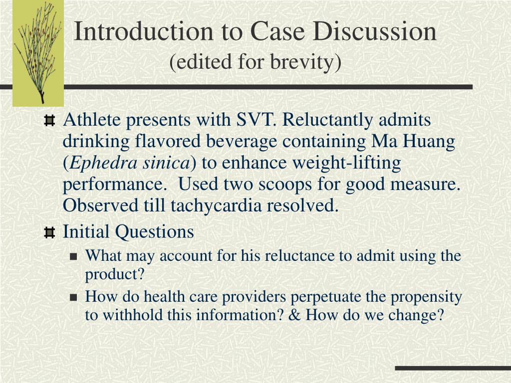 Introduction to Case Discussion