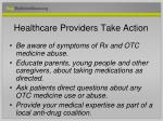 healthcare providers take action