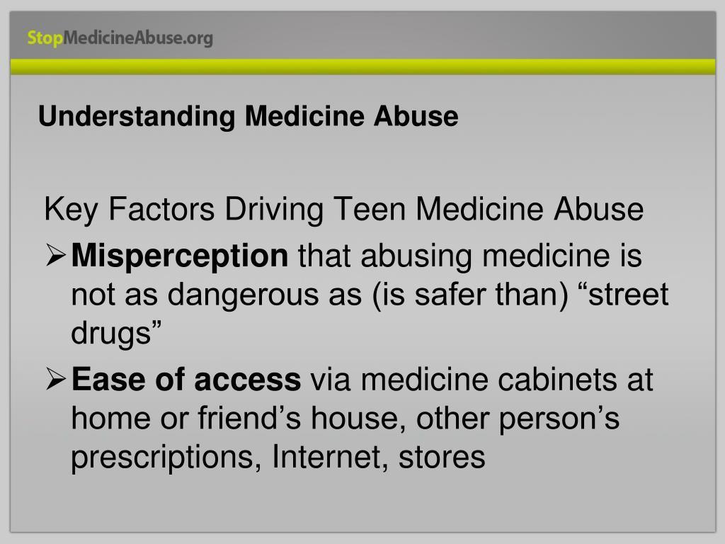 Understanding Medicine Abuse
