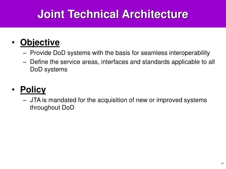 joint technical architecture developed by the Wto joint technical symposium on sustainable development  are complex,  the architecture for their implementation is even more so.