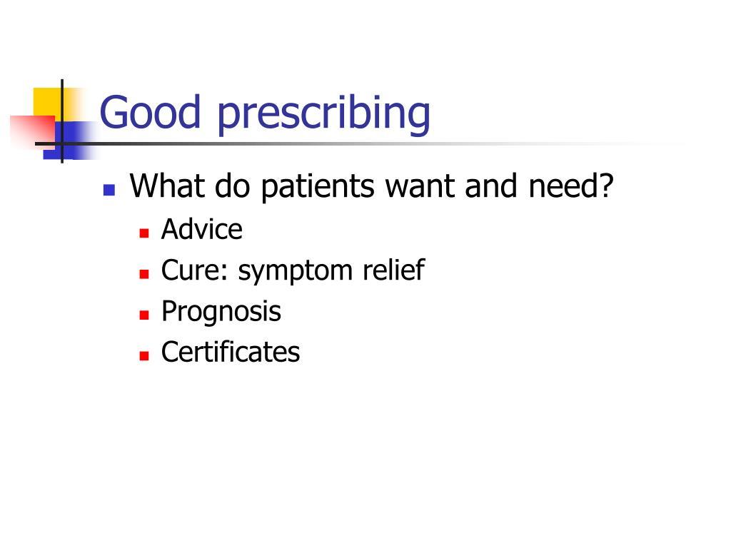 Good prescribing