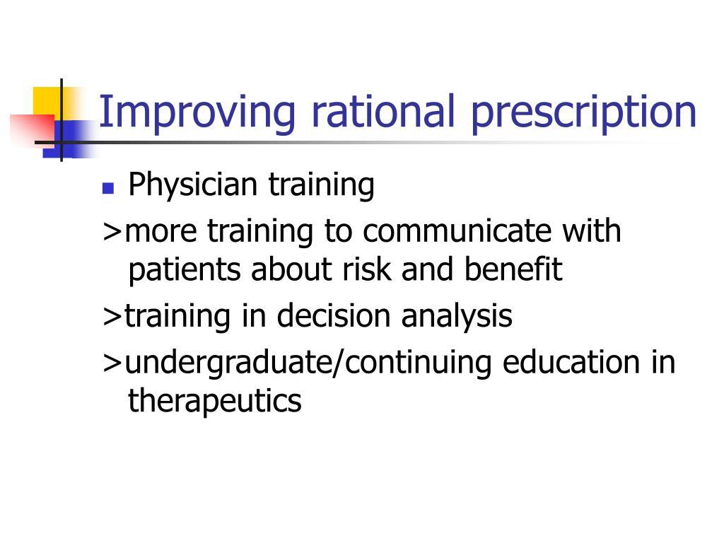 Improving rational prescription