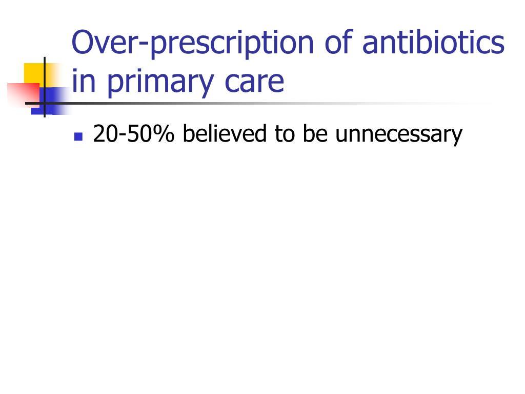 Over-prescription of antibiotics in primary care