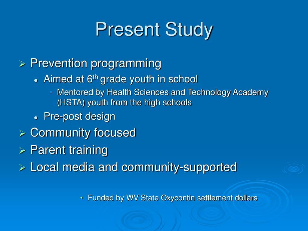 Present Study