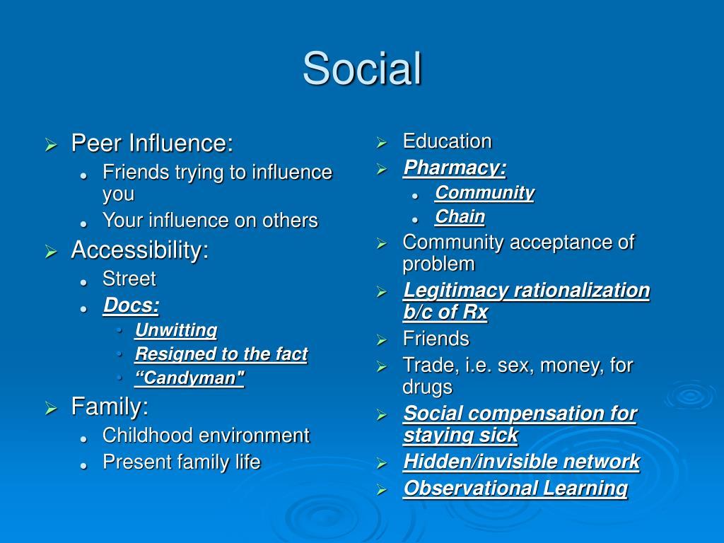 Peer Influence: