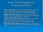 youth risk perception for prescription drugs