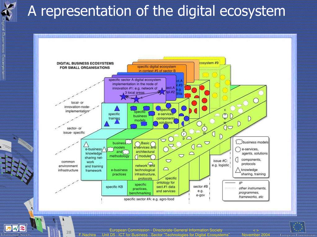 A representation of the digital ecosystem