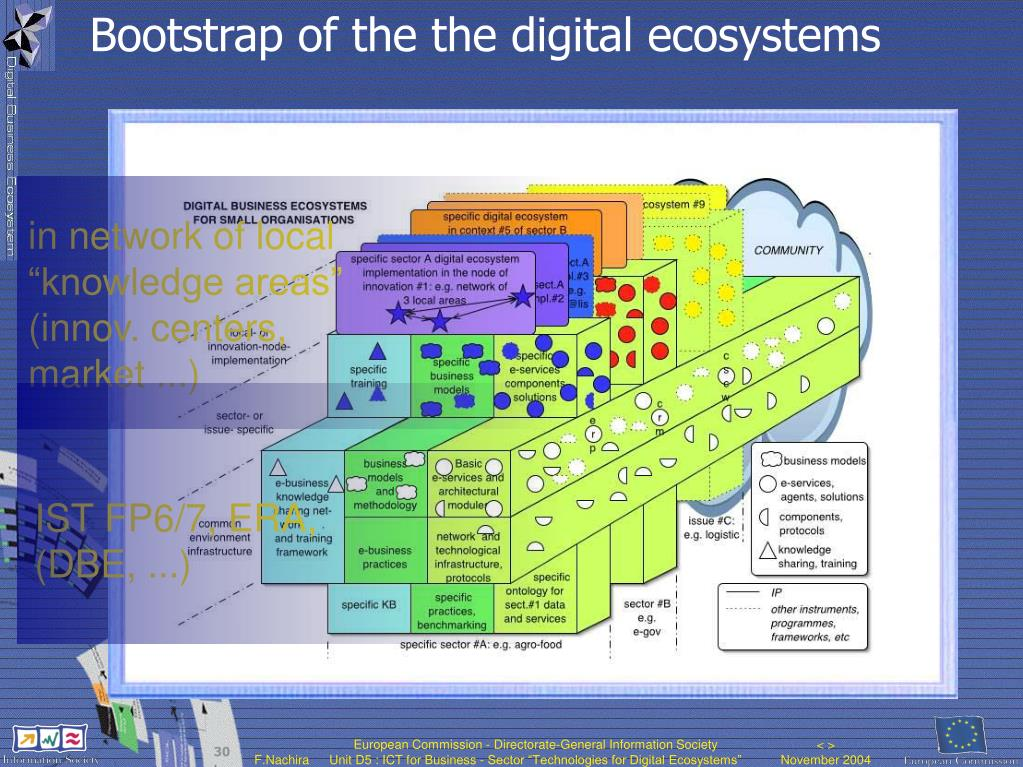 Bootstrap of the the digital ecosystems