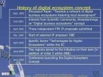 history of digital ecosystem concept