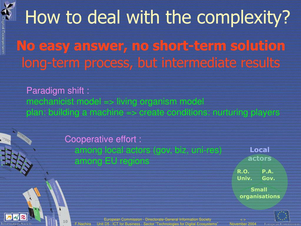 How to deal with the complexity?