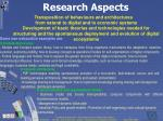 research aspects