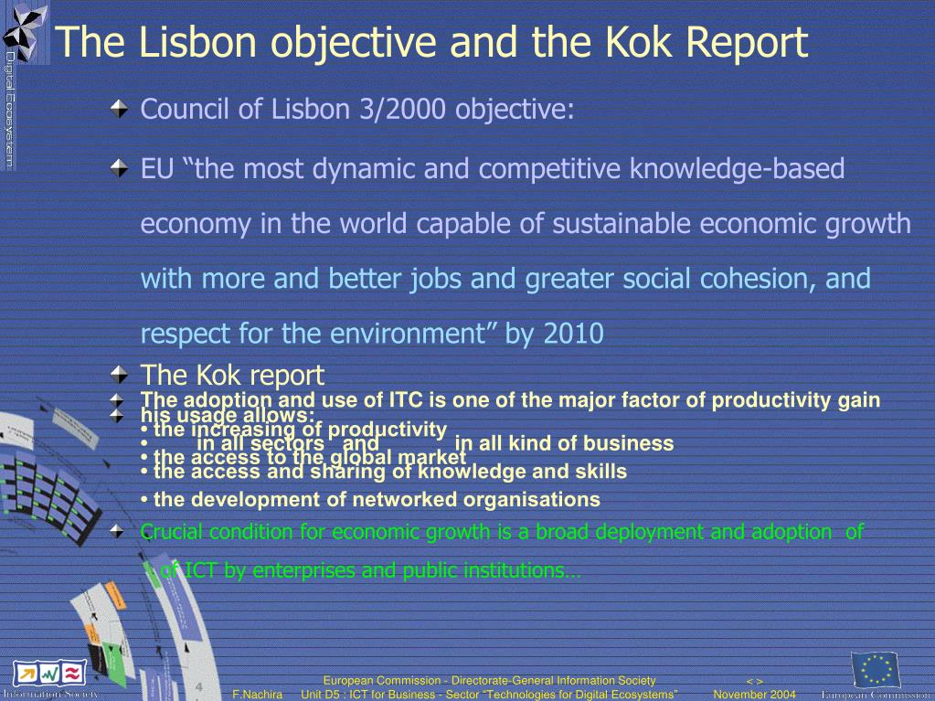 The Lisbon objective and the Kok Report