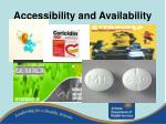 accessibility and availability
