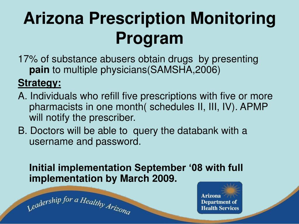 Arizona Prescription Monitoring Program