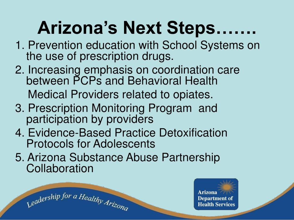 Arizona's Next Steps…….