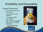 availability and accessibility9