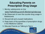 educating parents on prescription drug usage