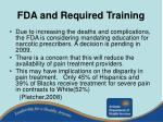 fda and required training