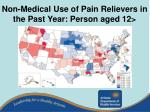 non medical use of pain relievers in the past year person aged 12