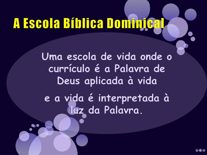 A escola b blica dominical