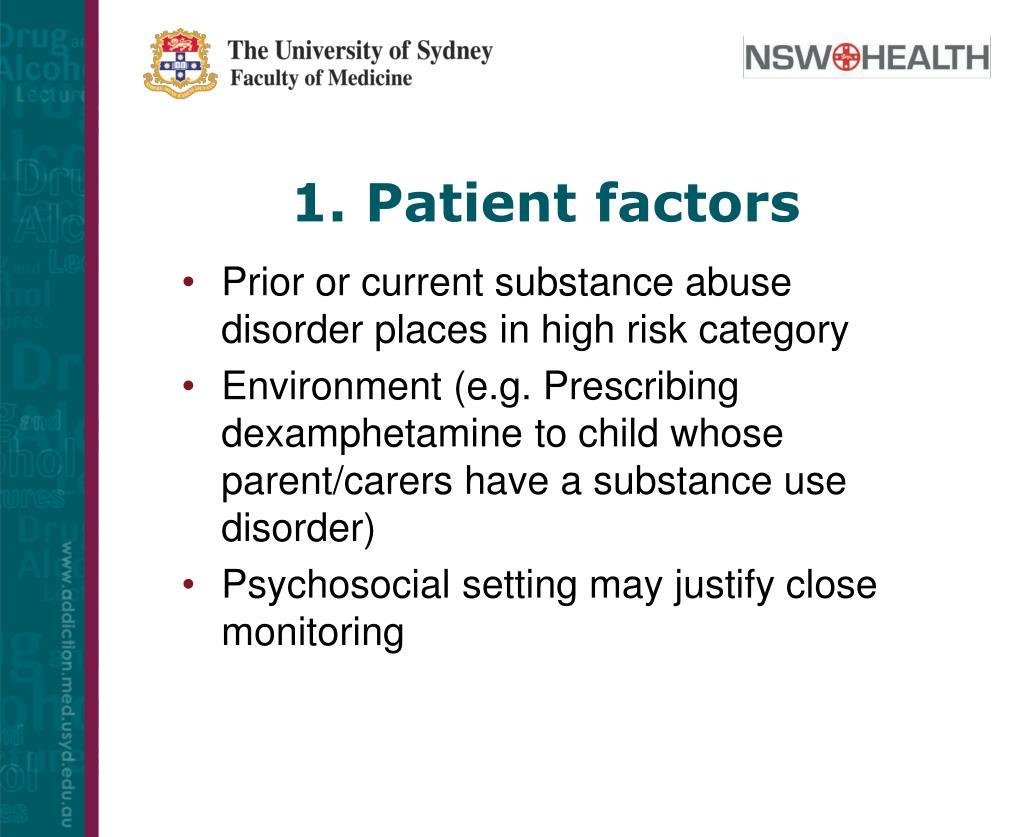 1. Patient factors