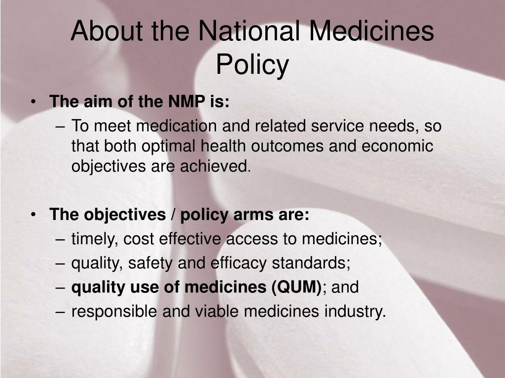 About the National Medicines Policy