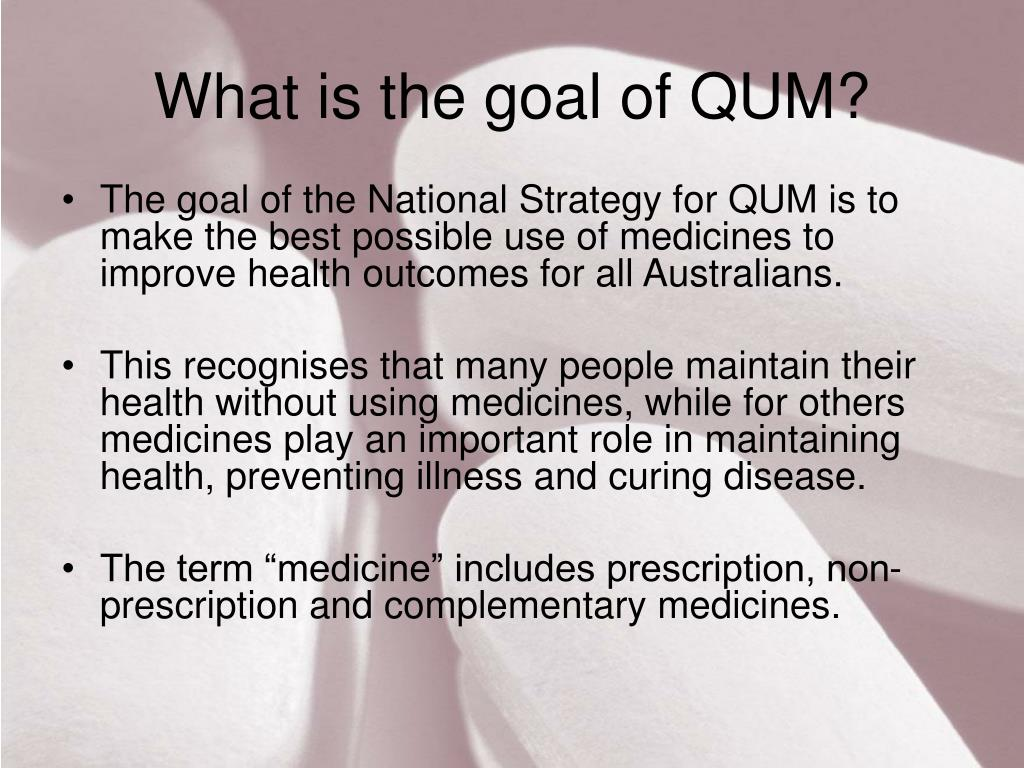 What is the goal of QUM?