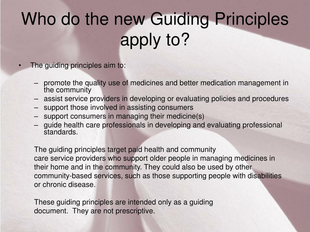 Who do the new Guiding Principles apply to?