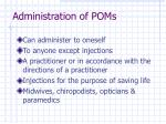 administration of poms