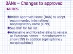bans changes to approved names