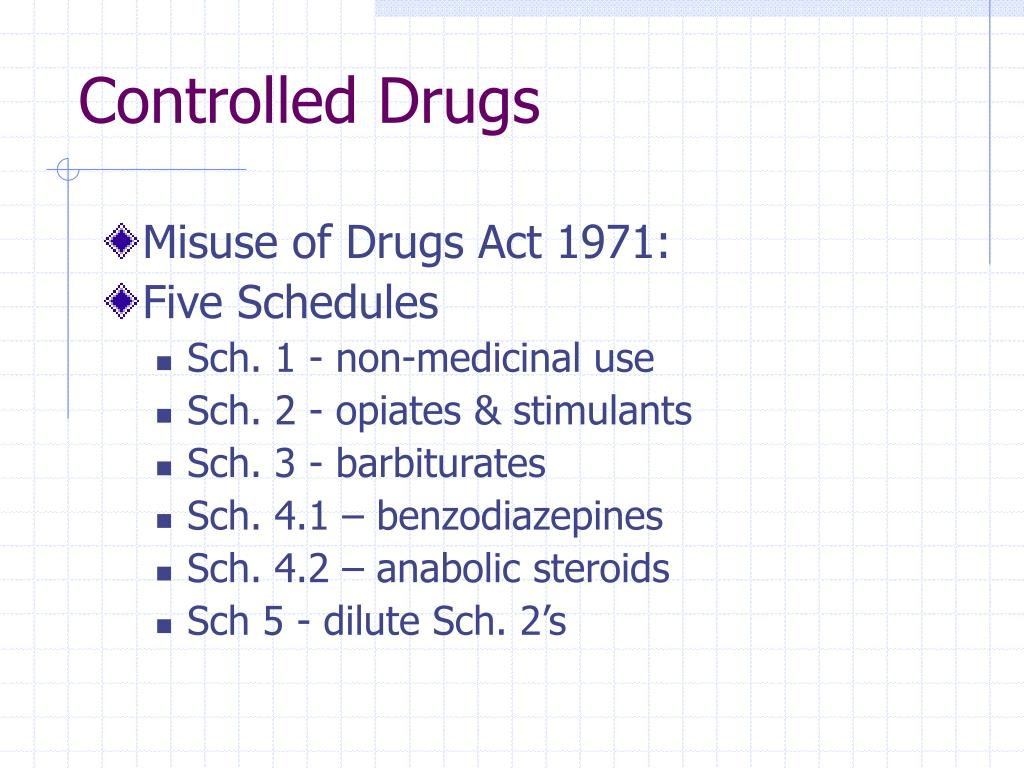 Controlled Drugs