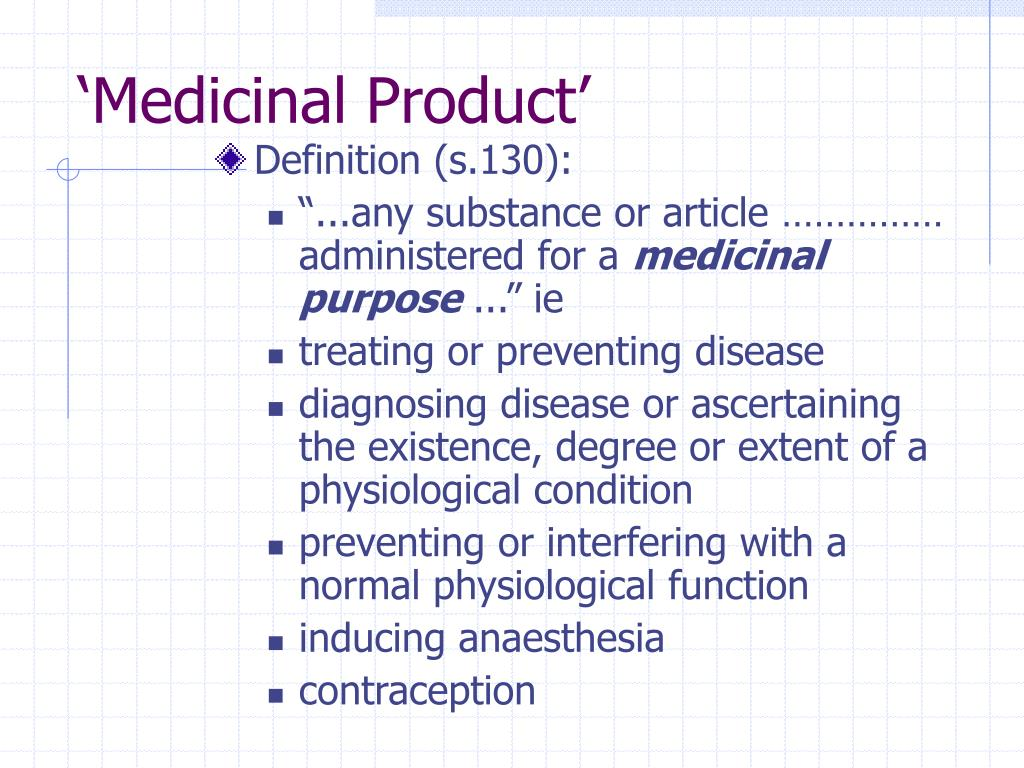 'Medicinal Product'