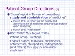 patient group directions 1