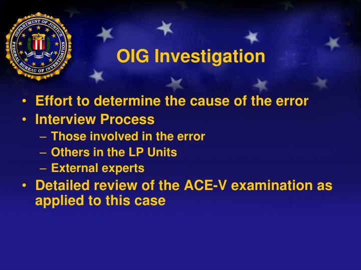 OIG Investigation