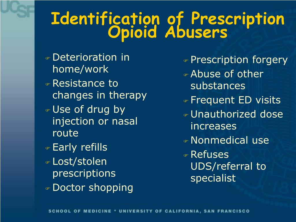 Identification of Prescription Opioid Abusers