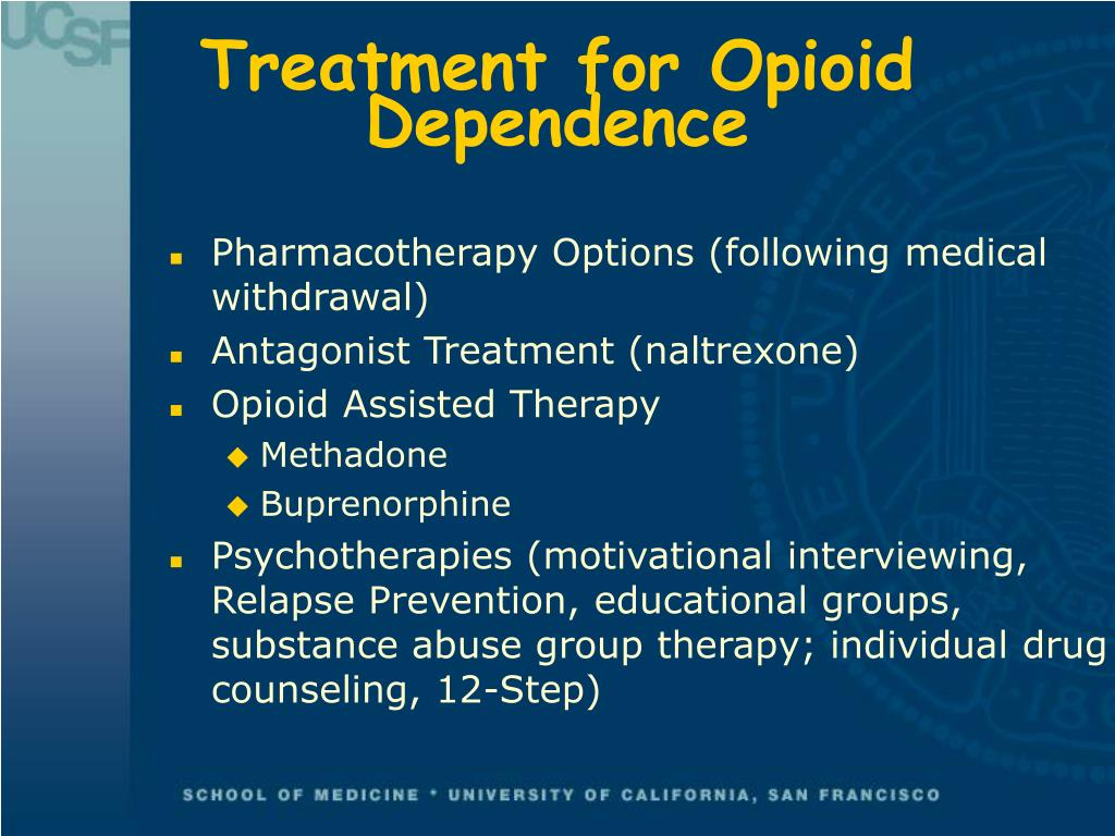 Treatment for Opioid Dependence