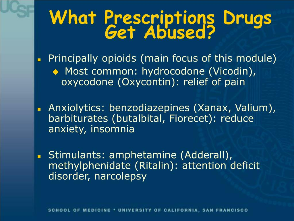 What Prescriptions Drugs Get Abused?