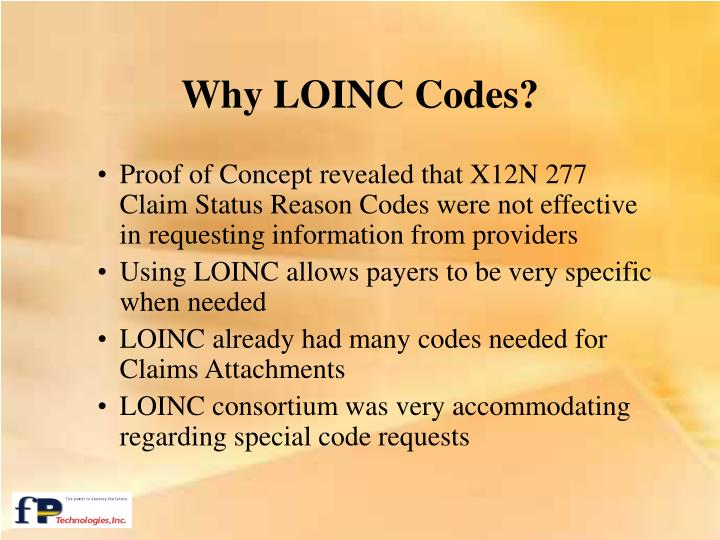 Why LOINC Codes?