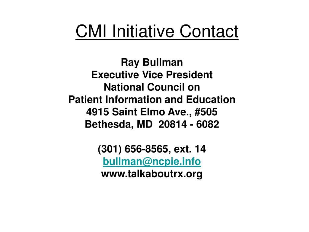 CMI Initiative Contact