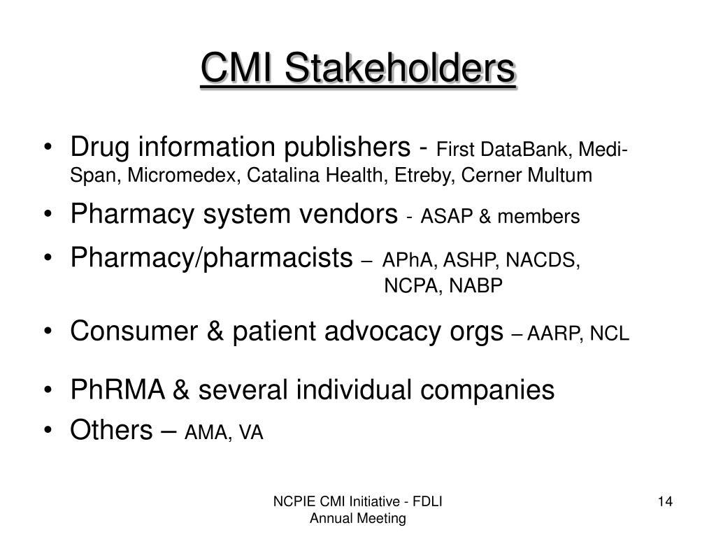 CMI Stakeholders