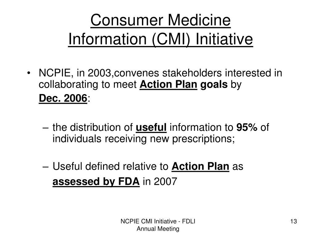 Consumer Medicine